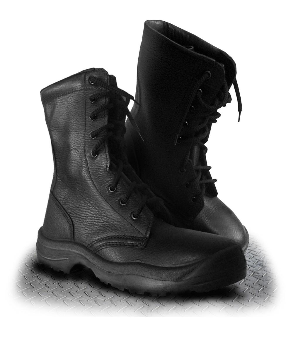 Ботинки кожаные с высокими берцами
