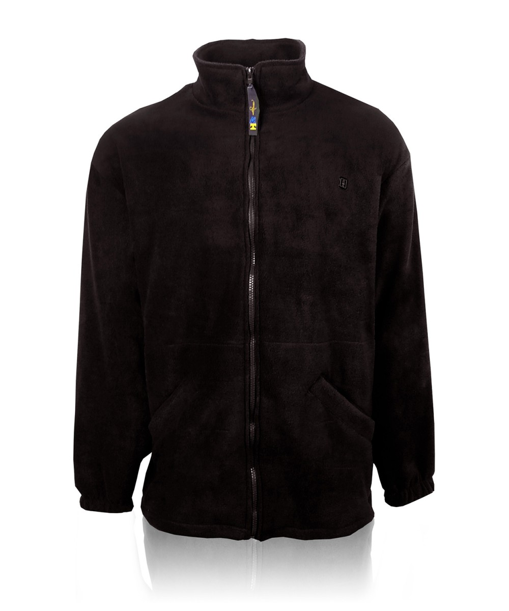 Куртка-олимпийка флисовая черная