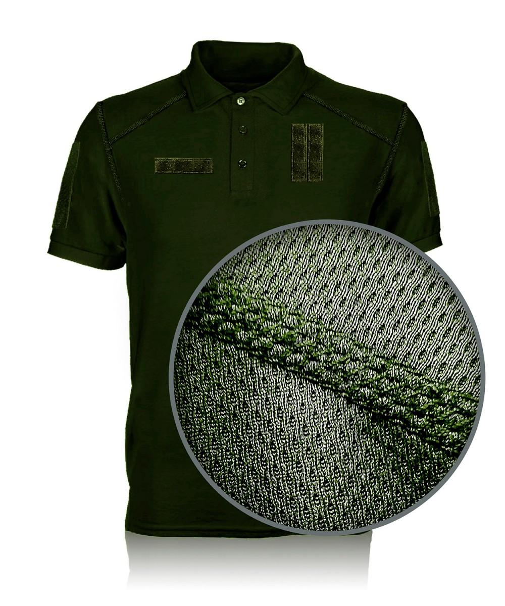"""Тенниска """"Поло"""" тк. COOLMAX хаки"""