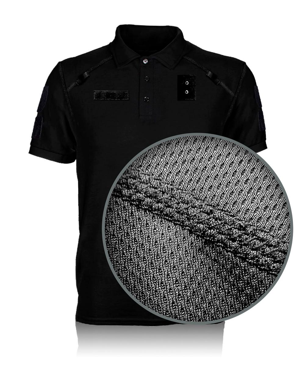 "Тенниска ""Поло"" тк. COOLMAX черная"