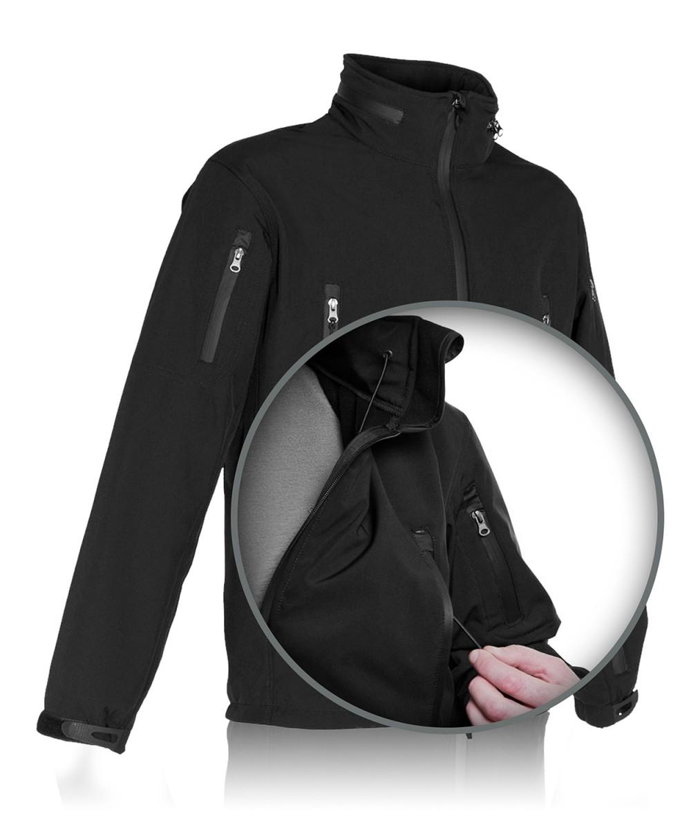 """Куртка тактическая """"СОФТШЕЛЛ"""" черная"""