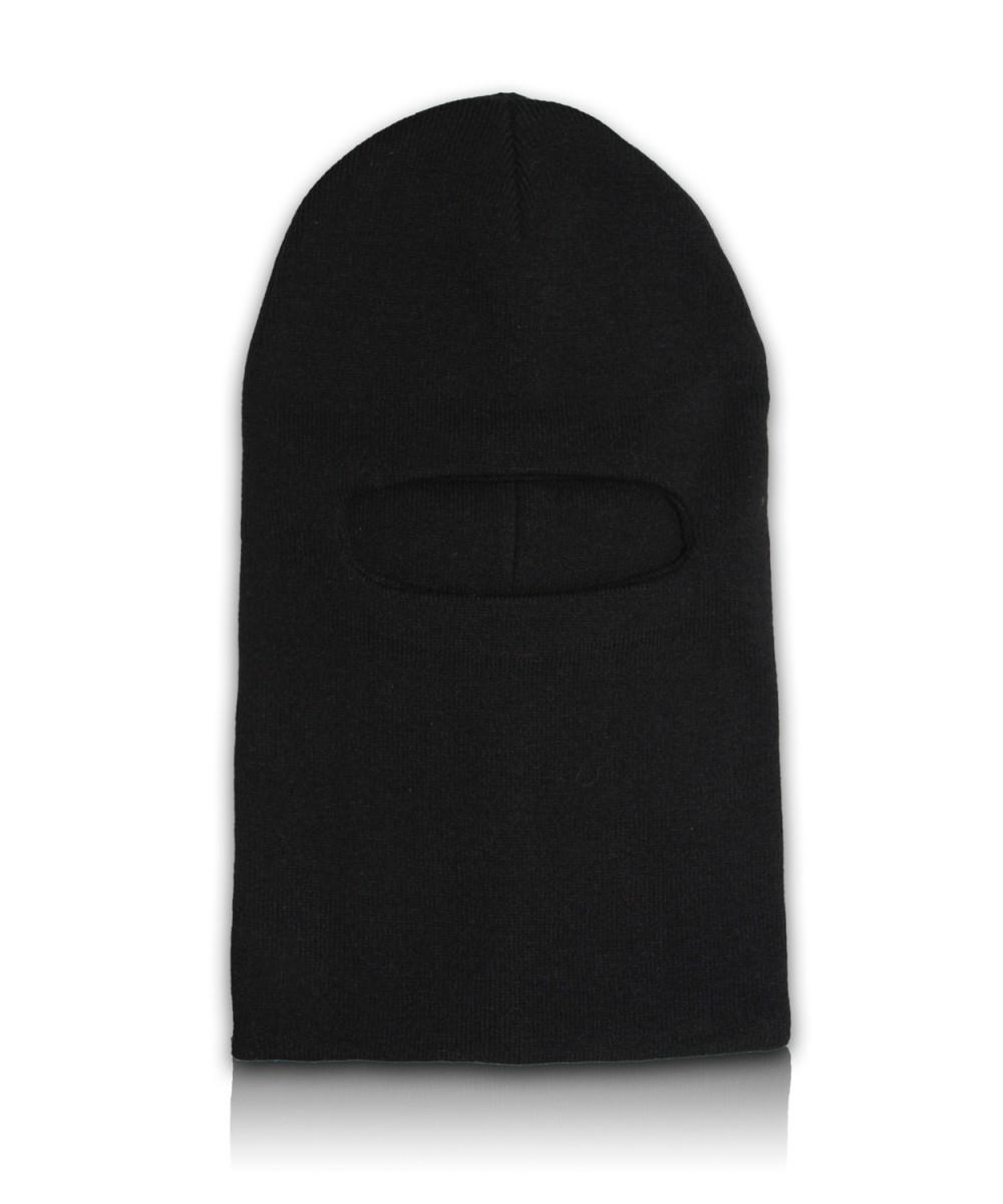 Шапка-маска вязаная двойная черная