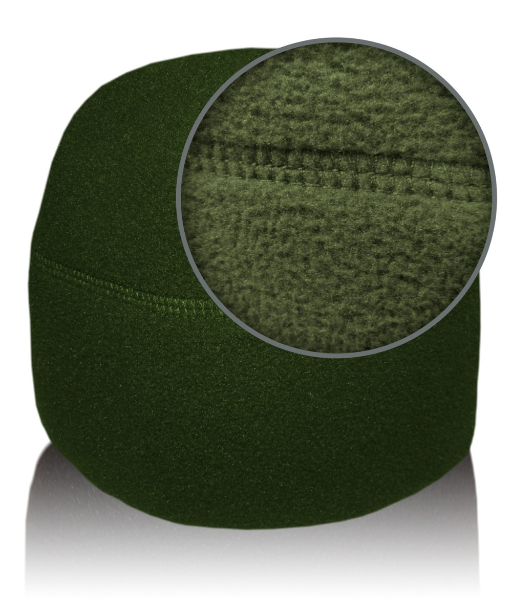 Шапка флисовая олива