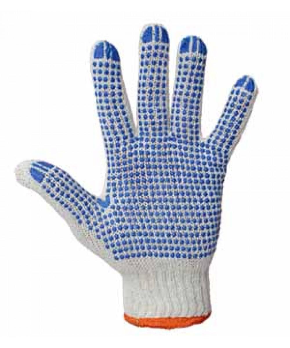 Перчатки трикотажные с ПВХ точкой (4 нити)