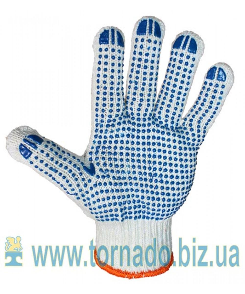 Перчатки трикотажные с ПВХ точкой (7 нитей)