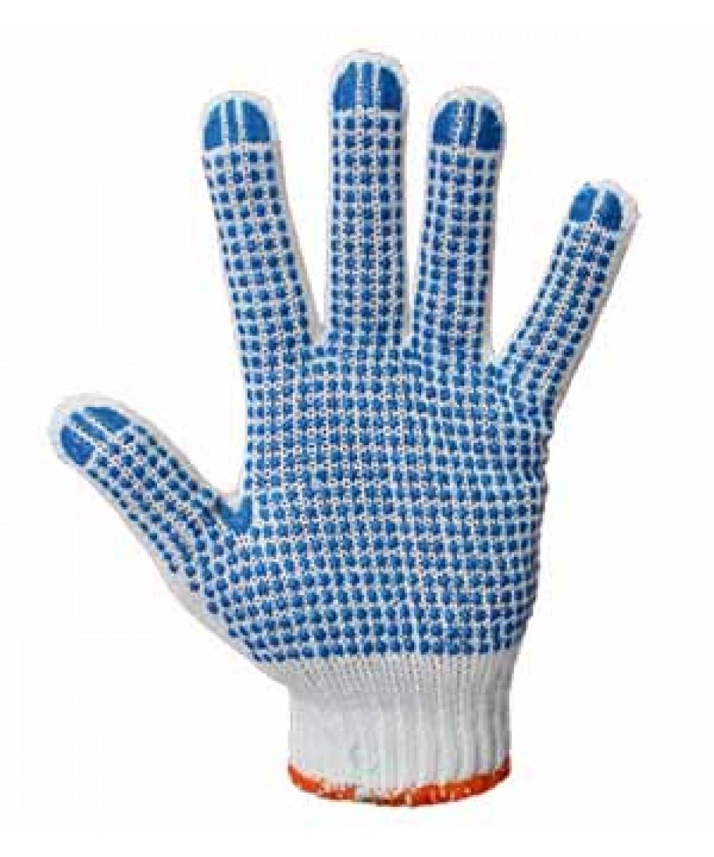 Перчатки трикотажные полиэстер с ПВХ точкой (5 нитей)