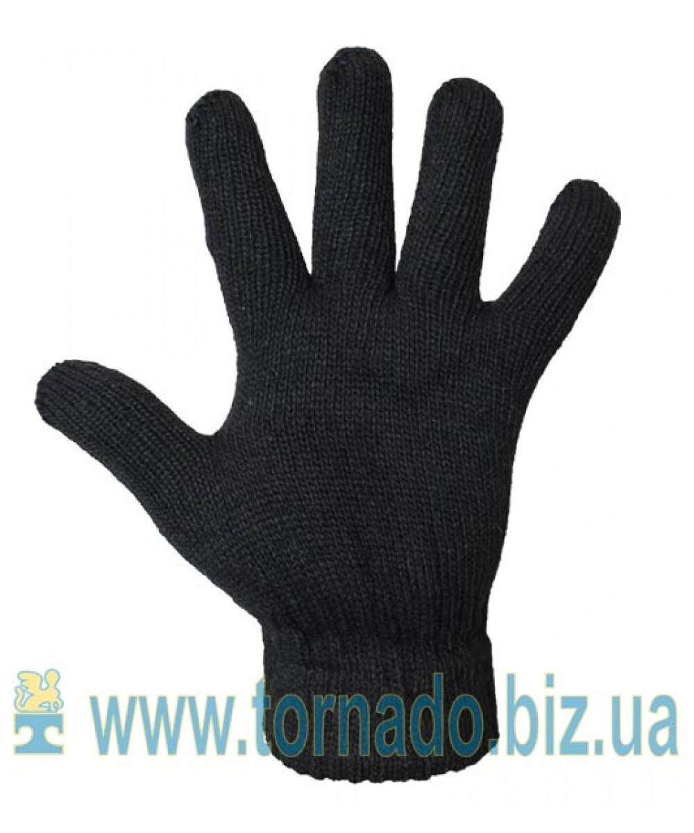 Перчатки утепленные полушерстяные (двойные)
