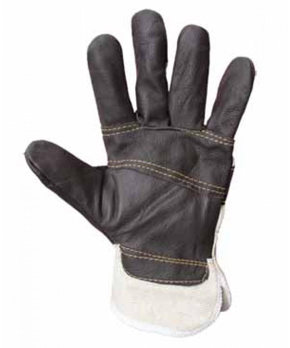 Перчатки комбинированные хромовые утепленные