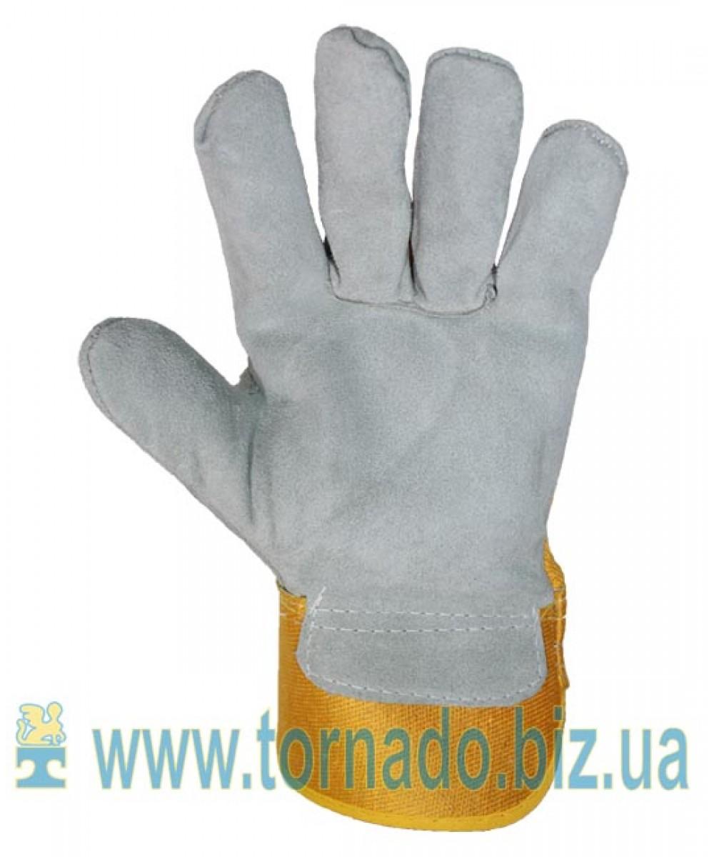 Перчатки комбинированные спилковые усиленные