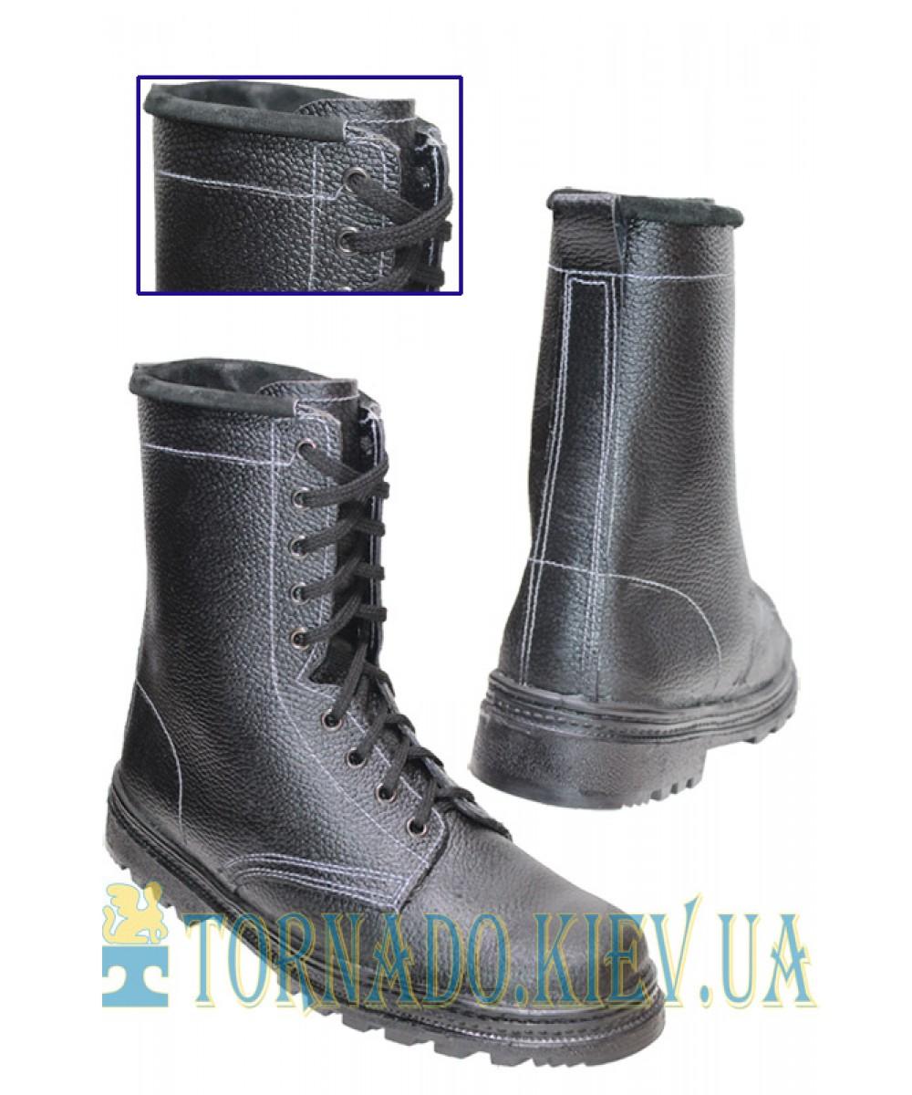 Ботинки ОМОН клеепрошивные (юфть/юфть)