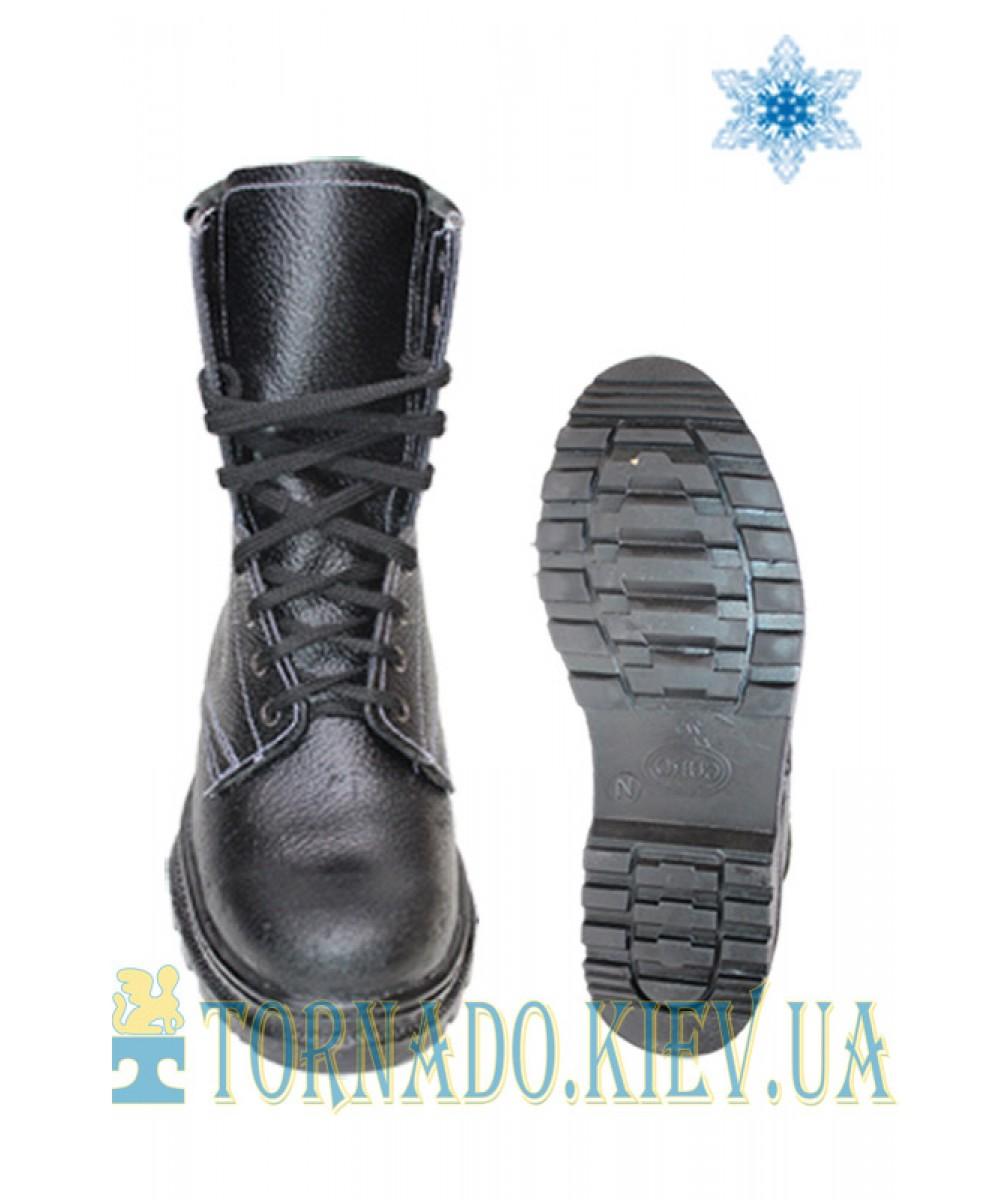 Ботинки утепленные ОМОН клеепрошивные (юфть/юфть)