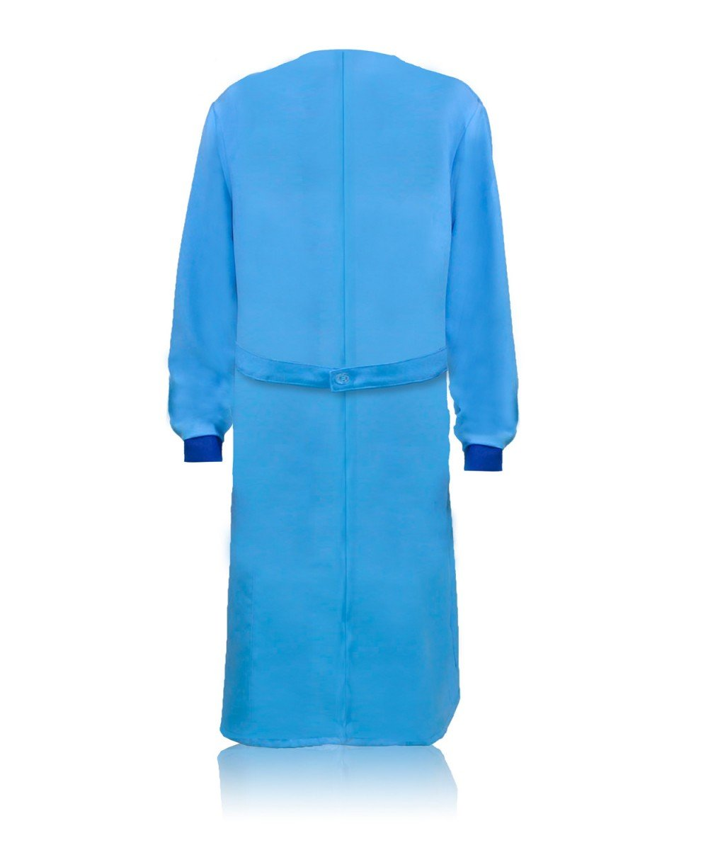 Халат женский голубой с отделкой (тк.Габардин)