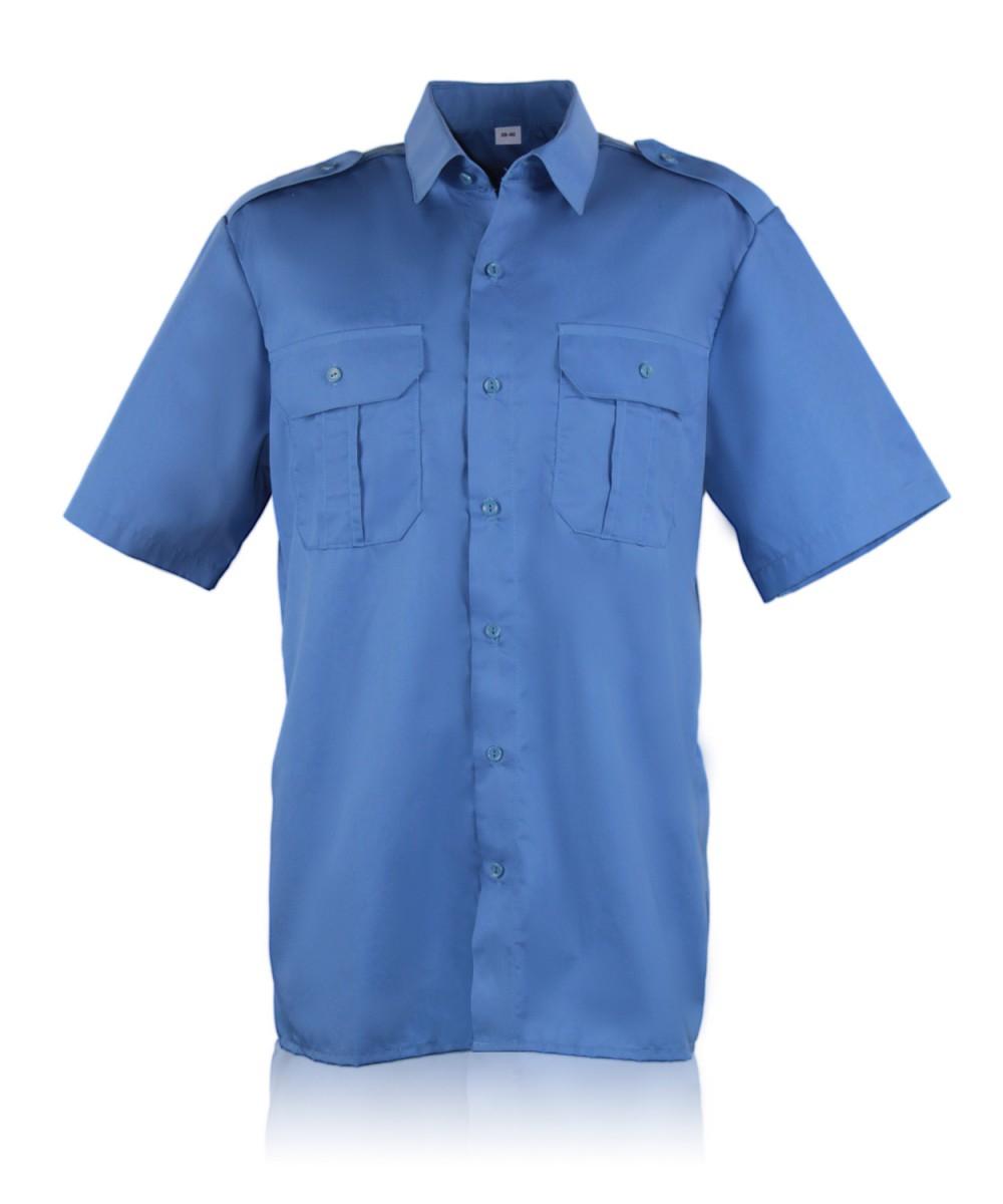 Рубашка форменная кор.рукав т.голубая