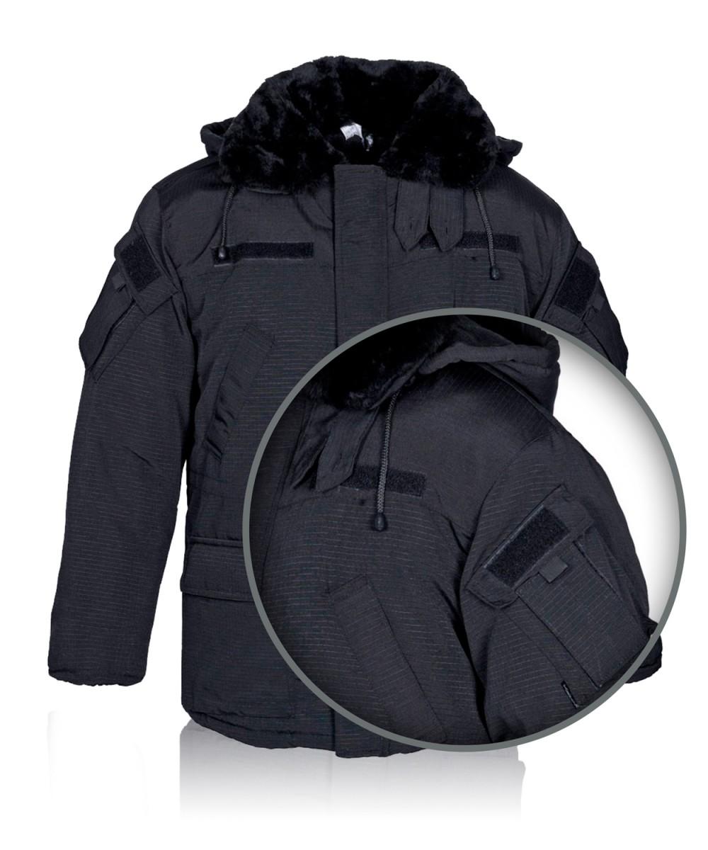"Куртка ""Британка"" тк.Rip-Stop черная c флис. подкл."